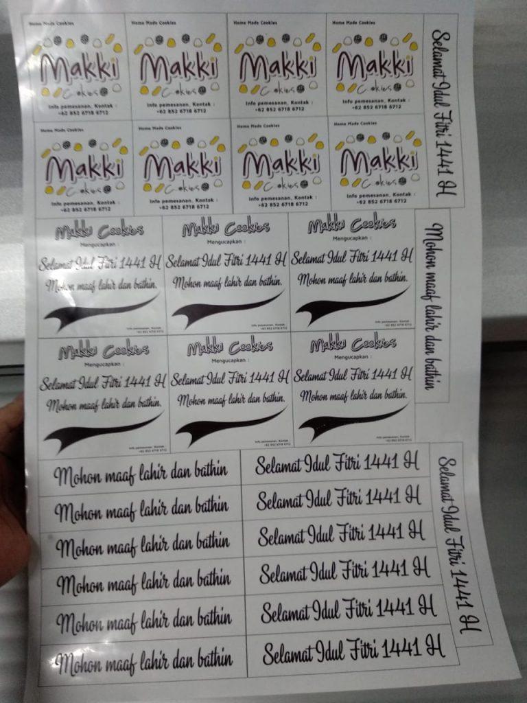 Percetakan Sticker label Transparant Berkualitas di Prabumulih